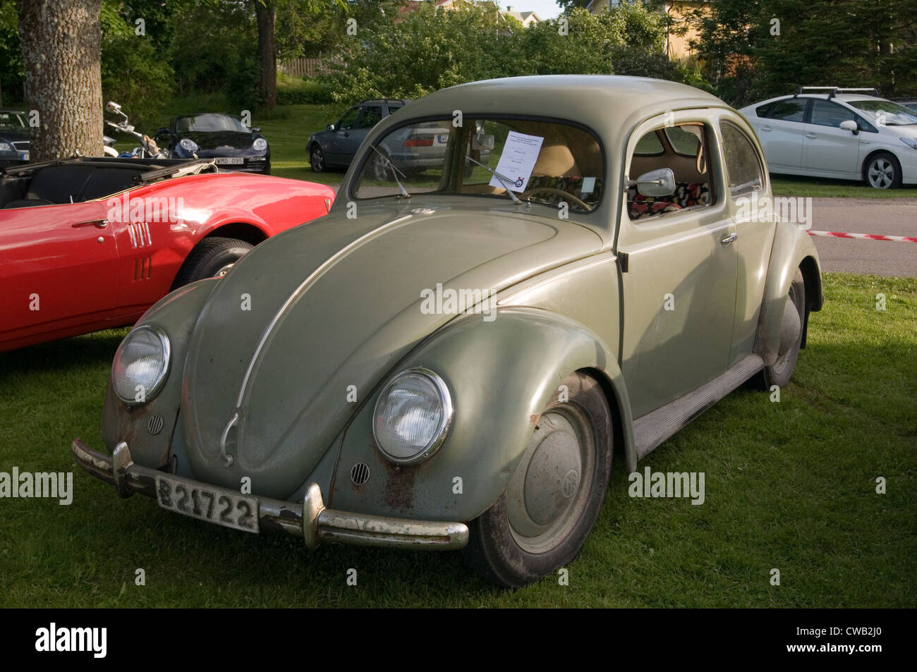 split window early beetle vw volkswagen peoples car classic cars old - Stock Image