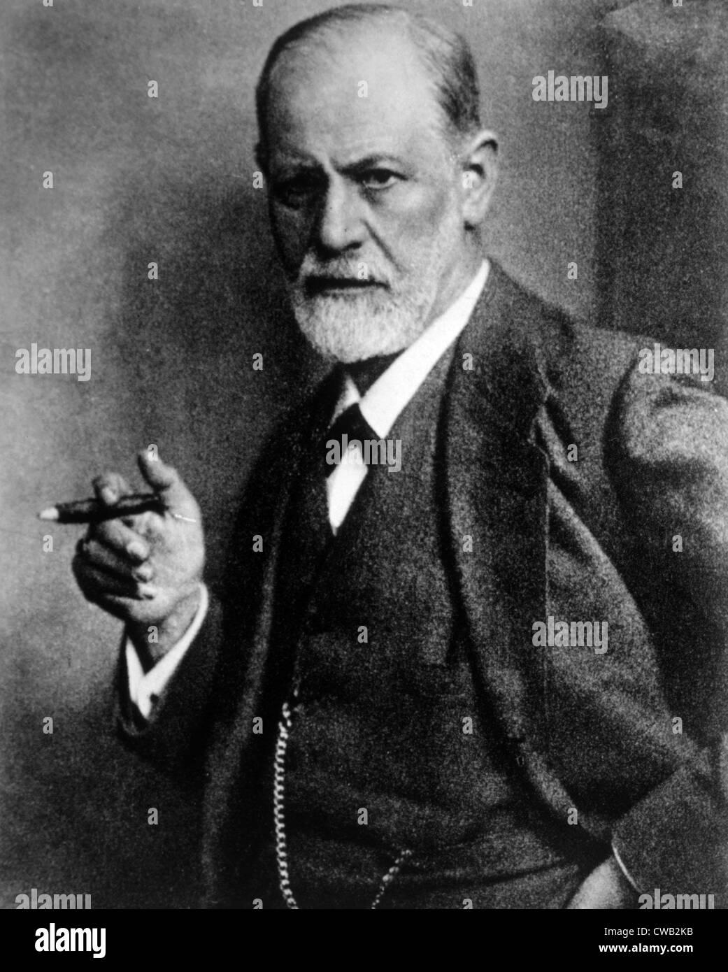 Sigmund Freud (1856-1939), photograph by Max Halberstadt, ca. 1921 - Stock Image