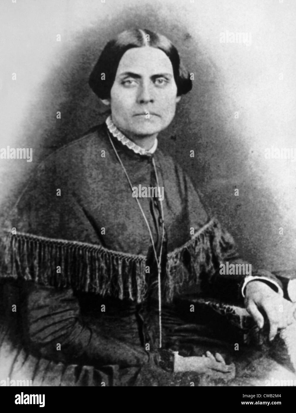 Susan B. Anthony, (1820-1906), leader of the women's suffrage movement - Stock Image