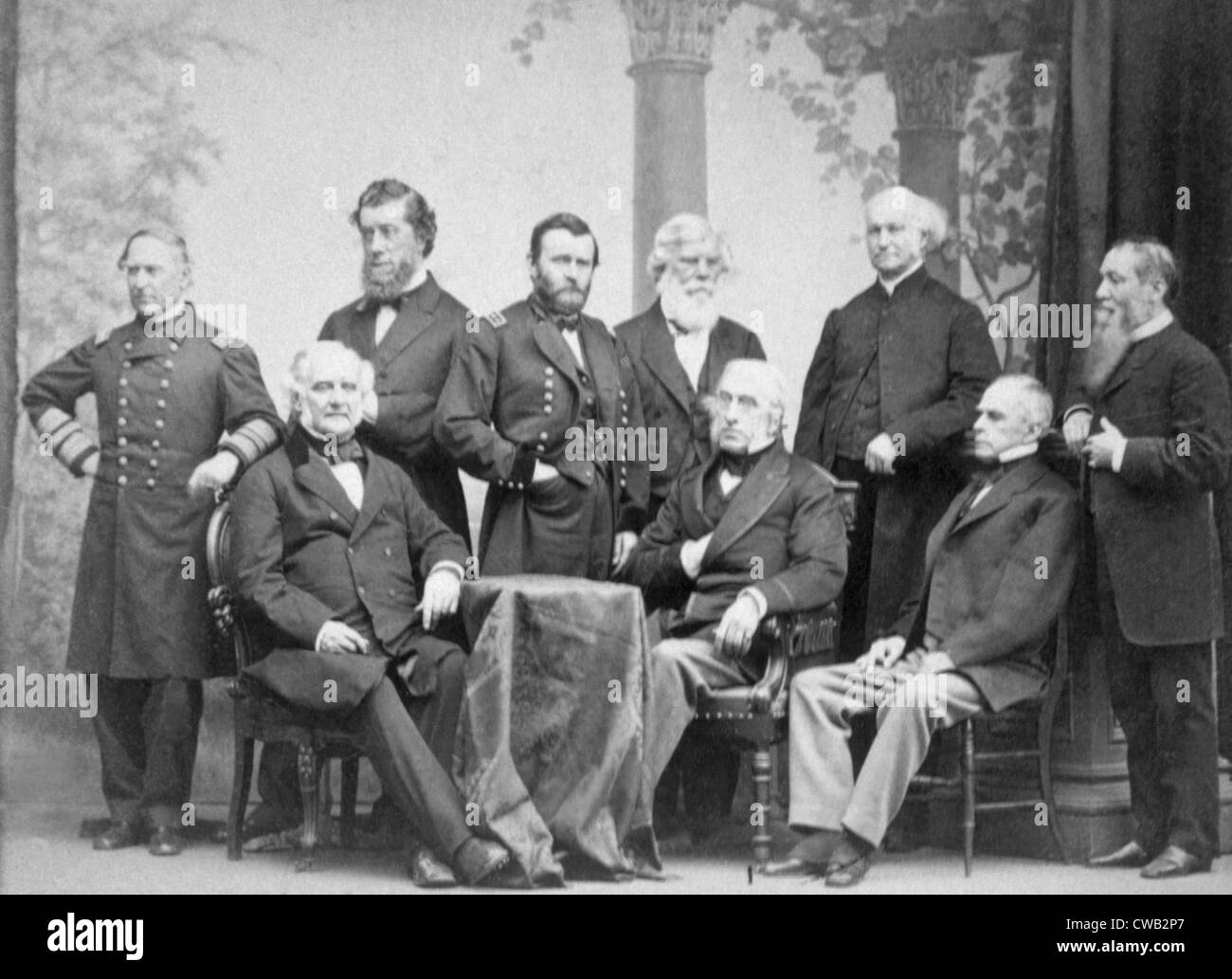 Admiral David Farragut Standing Left General Ulysses S Grant Third With Other Civil War Leaders And