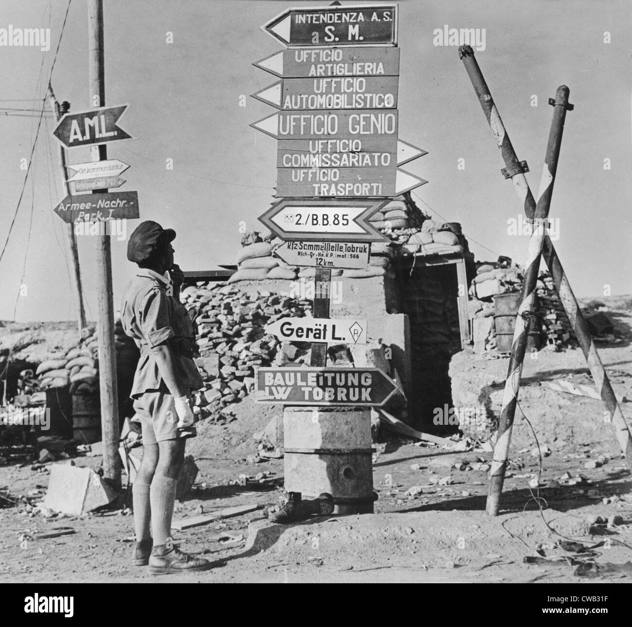 Image result for ww2 north africa signpost