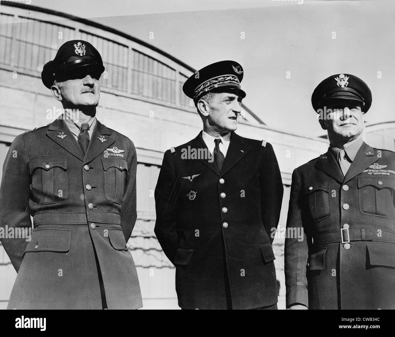 World War II, Major General James Doolittle, United States Army Air Forces, Major-General Jean Bergeret of Fighting - Stock Image