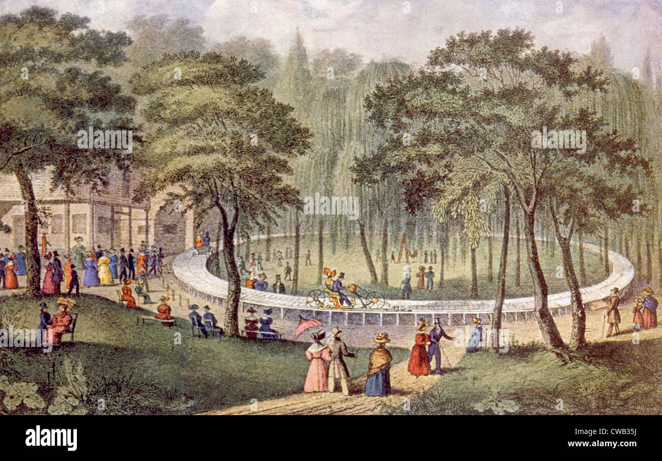 'The Circular Pleasure Railway.' Currier & Ives - Stock Image