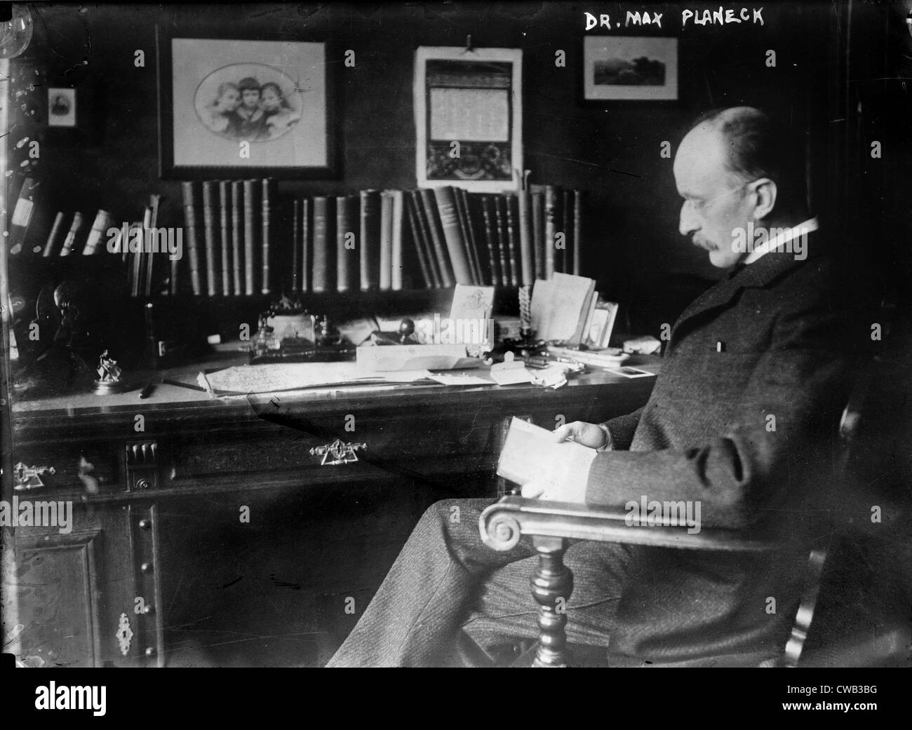 Max Planck (1858-1947), German physicist, circa 1930s. - Stock Image