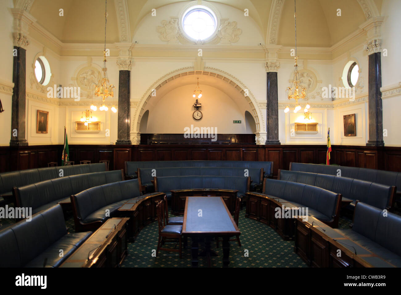 Staffordshire county council chamber - Stock Image