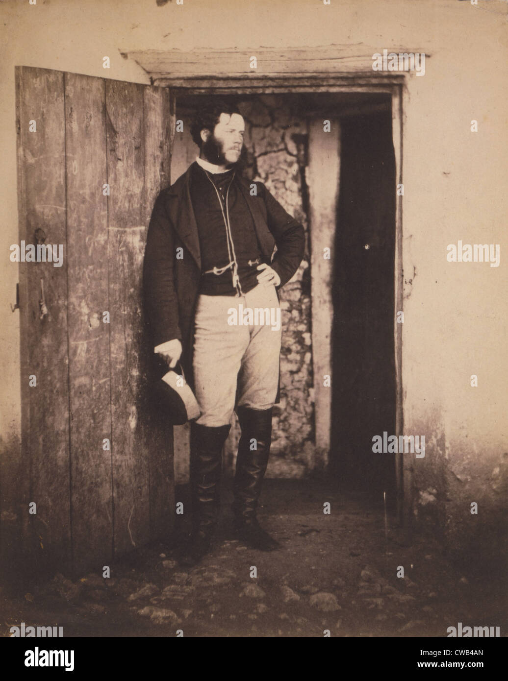 The Crimean War, portrait of Mr. Angel, postmaster, photograph by Roger Fenton, 1855. - Stock Image