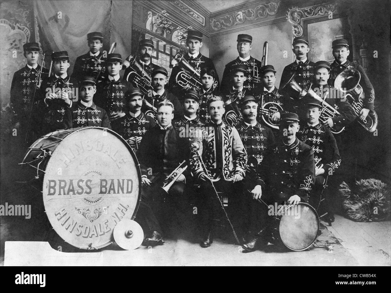 Hinsdale Brass Band, Hinsdale, New Hampshire, photograph, 1906. - Stock Image