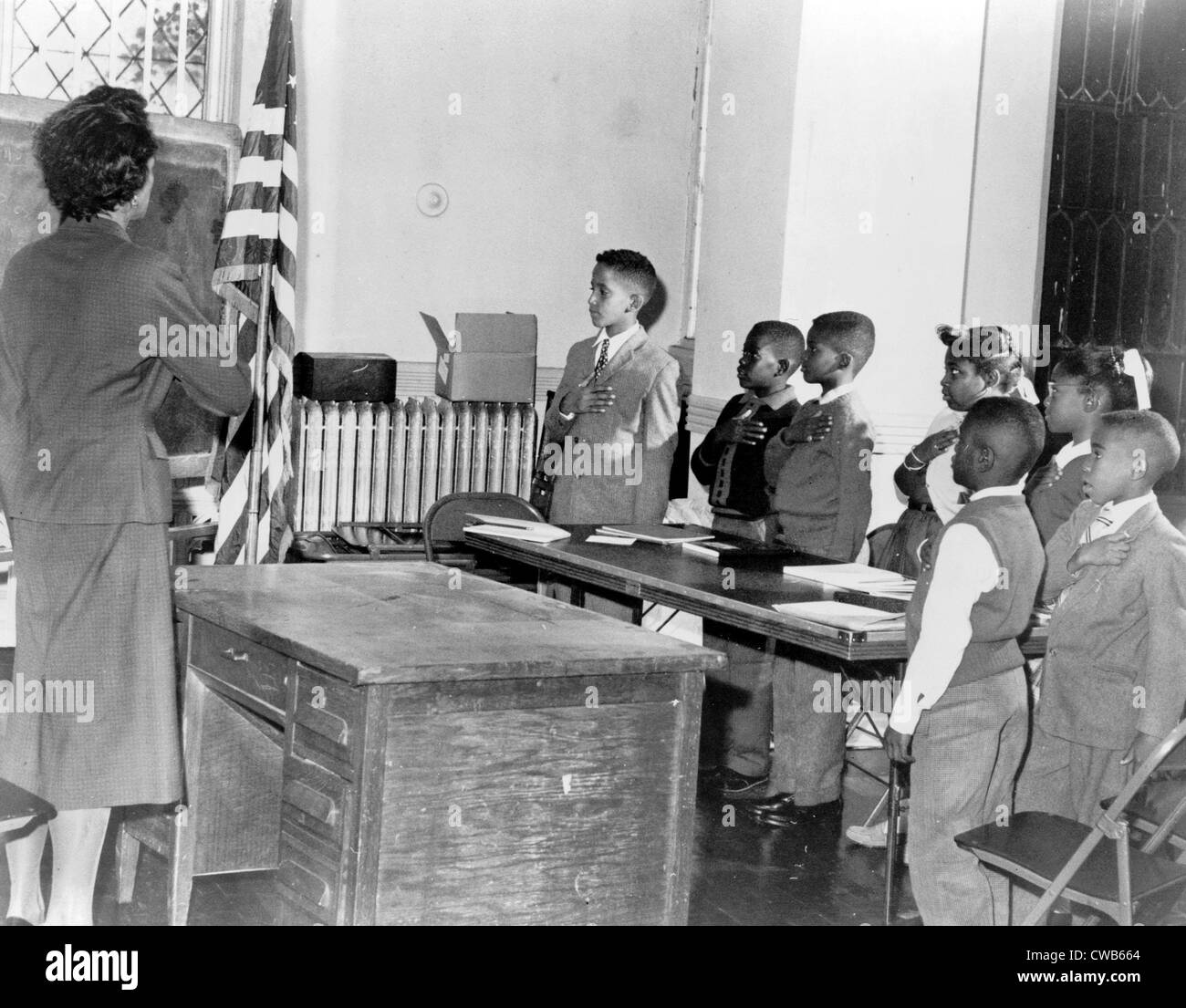 Mrs. Claire Cumberbatch, leader of the Bedford-Stuyvesant group protesting alleged 'segregated' school, - Stock Image