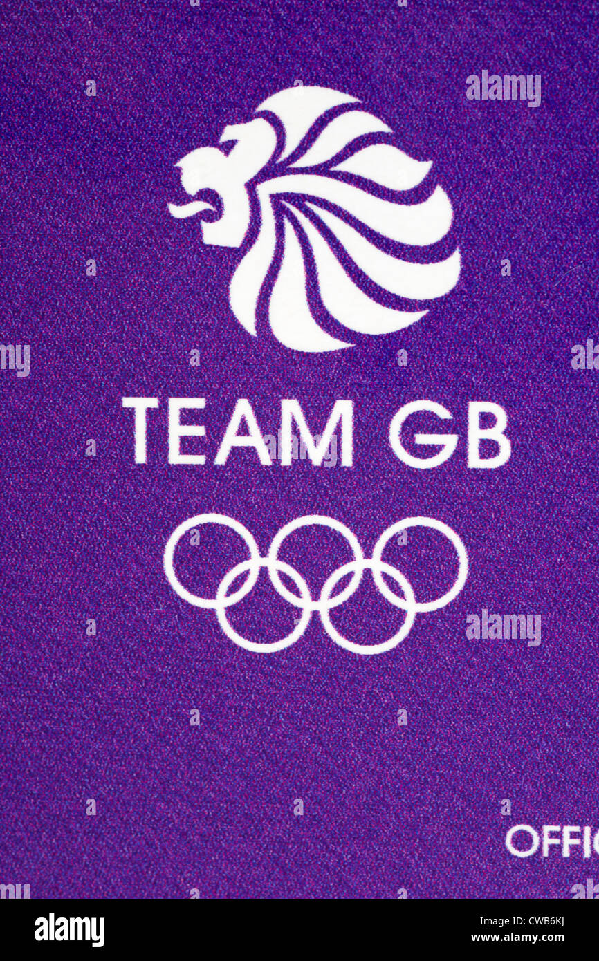Team GB logo on bar of Cadbury Dairy Milk chocolate given to Olympians for the London 2012 Olympic games in August - Stock Image