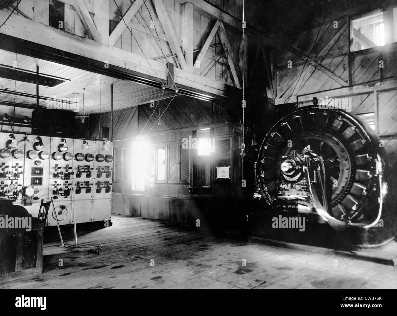 Tesla Black And White Stock Photos Images Alamy Nikola Alternating Current Diagram The Ac Blinking Causes Westinghouse Generator Worlds First Single Phase Power Transmission System