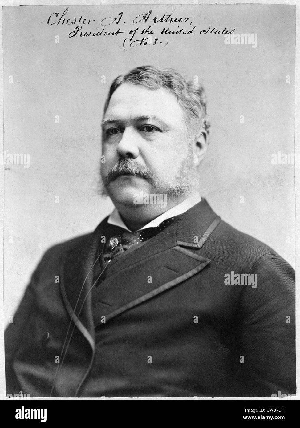 Chester A. Arthur, President of the United States. Photograph, 1882 - Stock Image