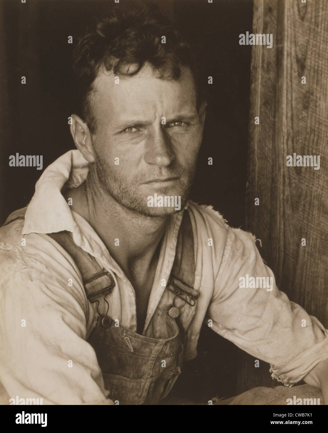 Floyd Burroughs, sharecropper. Hale County, Alabama. Published in the book, 'Let Us Now Praise Famous Men'. - Stock Image