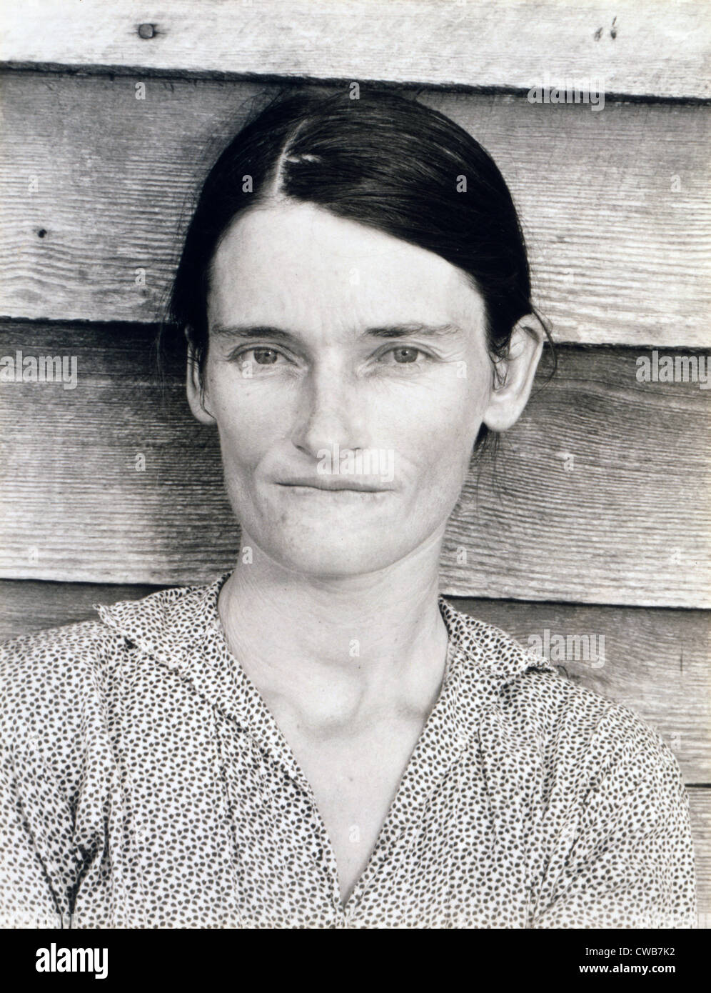 Allie Mae Burroughs, wife of Floyd Burroughs, sharecropper. Hale County, Alabama. Published in the book, 'Let - Stock Image