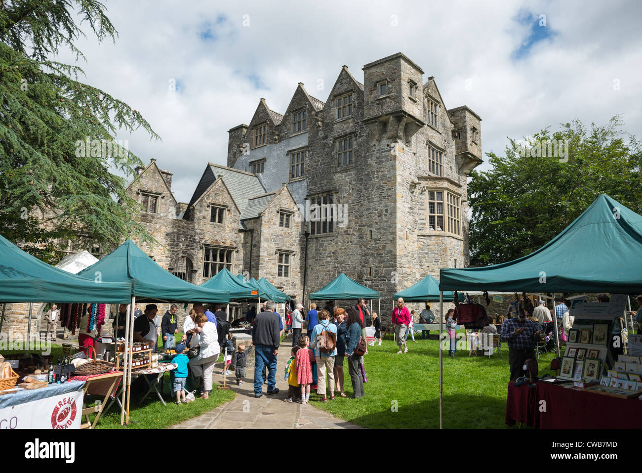 Local Market on the grounds of Donegal castle, Donegal Town, County Donegal, Republic of Ireland. - Stock Image