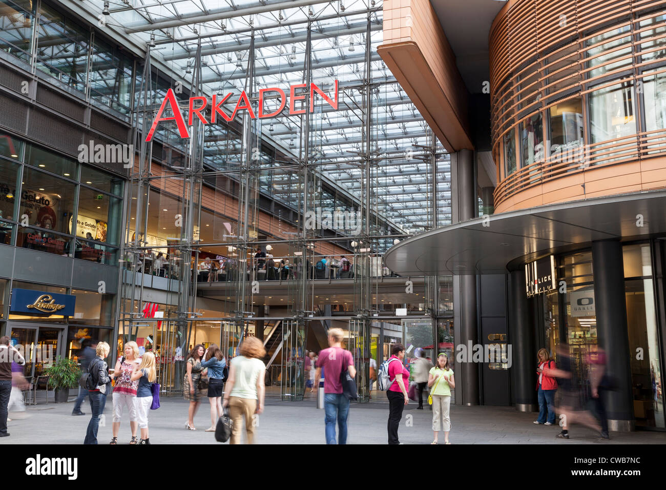 potsdamer platz arkaden shopping center berlin germany stock photo 50034696 alamy. Black Bedroom Furniture Sets. Home Design Ideas