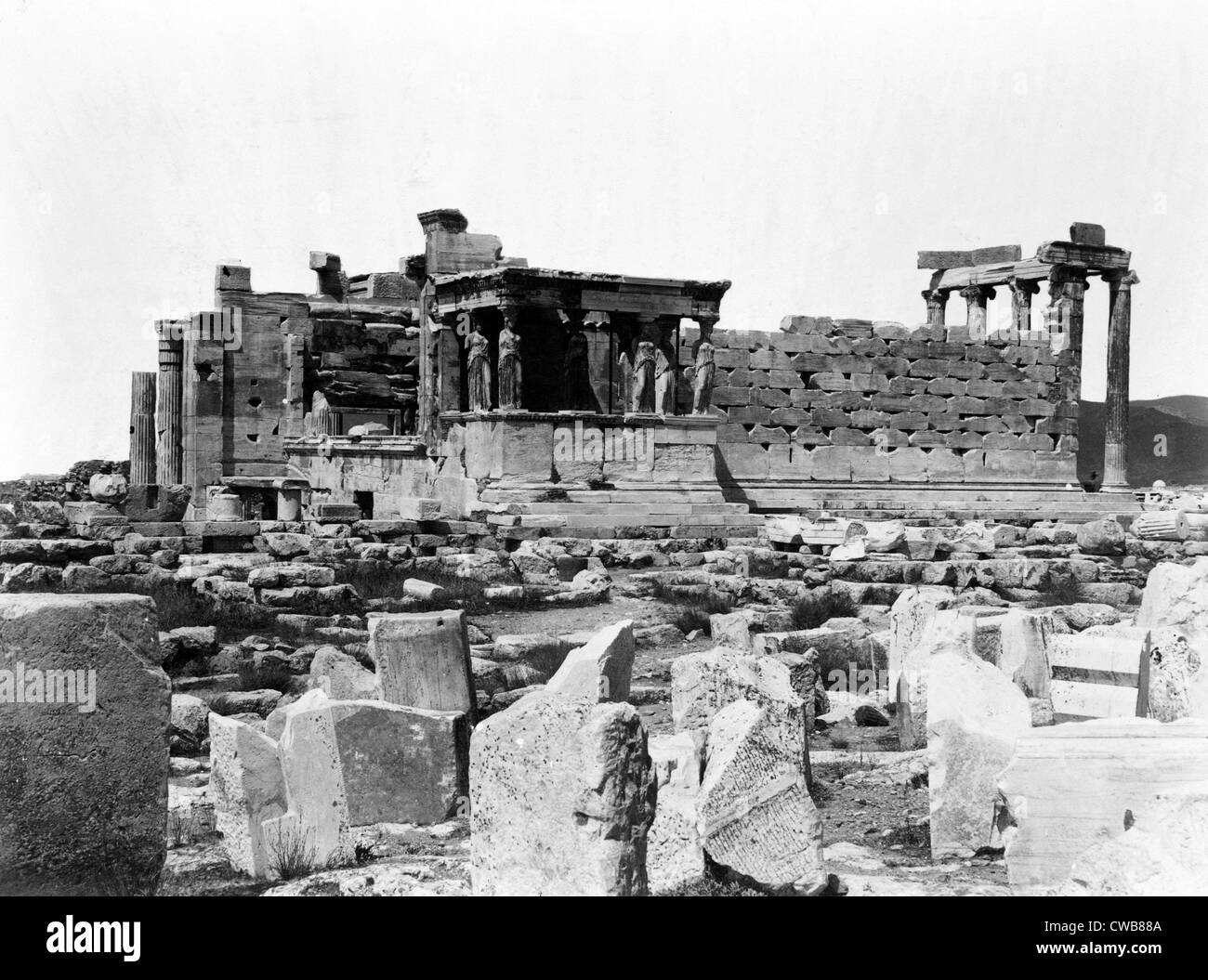 Athens, ancient Greece, print dated 1860s - Stock Image
