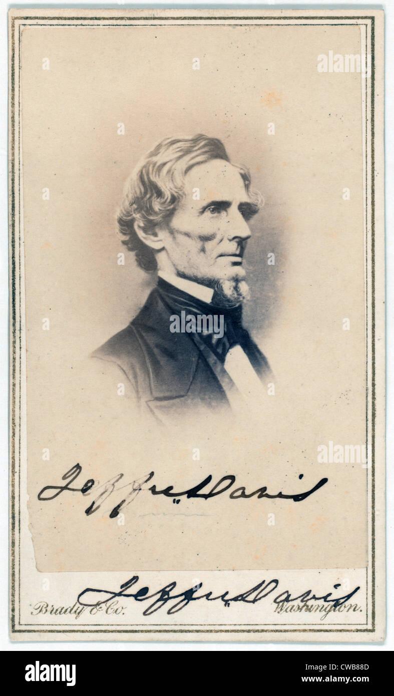 Jefferson Davis President Of The CSA Carte De Visite Signed By Ca 1862