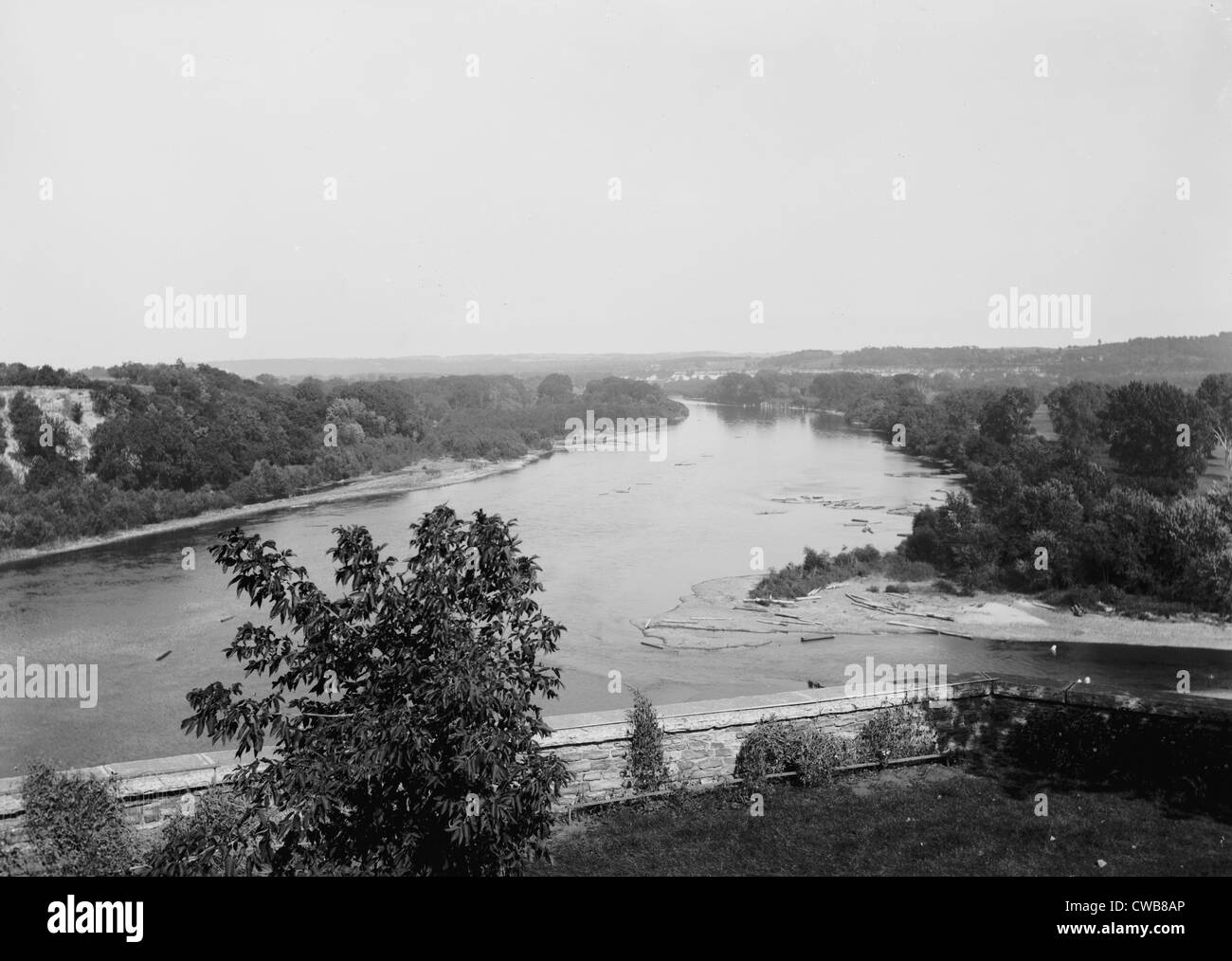 Mississippi River, ca. 1910s - Stock Image