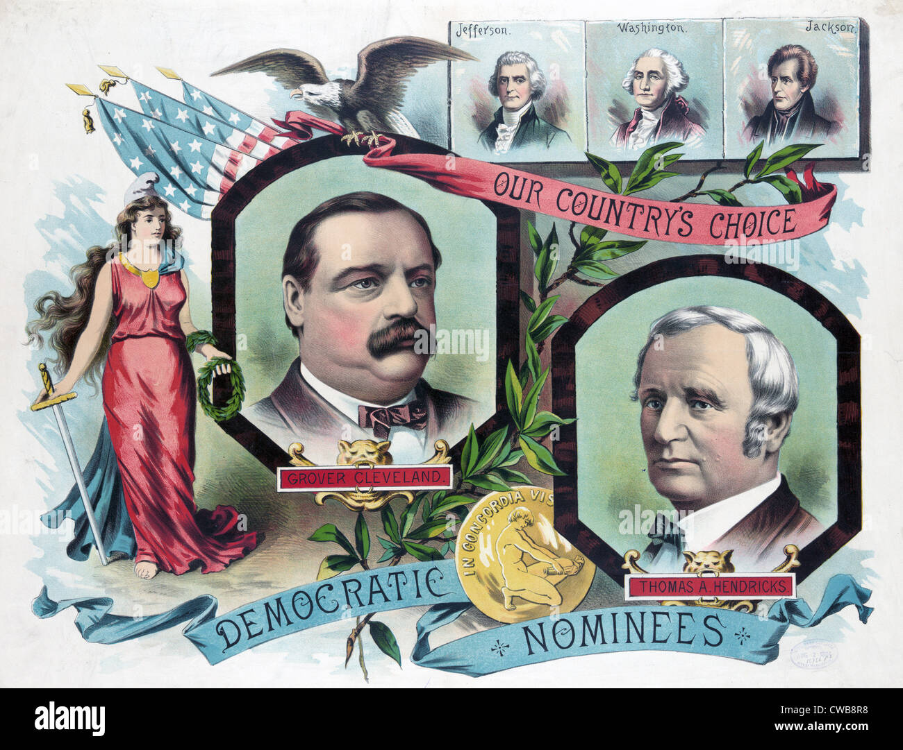 Grover Cleveland, Thomas A. Hendricks, the democratic candidates for president in 1884 Stock Photo