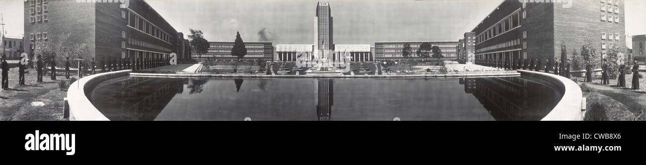 Mexico City, Escuela Normal, an educational building used by UNESCO, circa 1947. - Stock Image