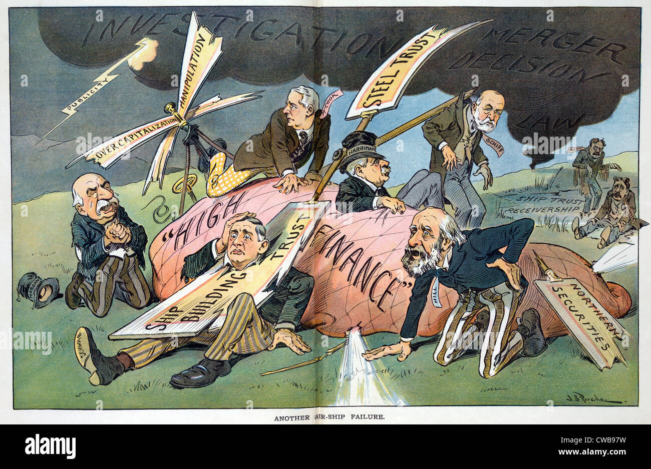 J P Morgan Political Cartoon Lampooning The Supreme Court S Ruling Stock Photo 50035885 Alamy