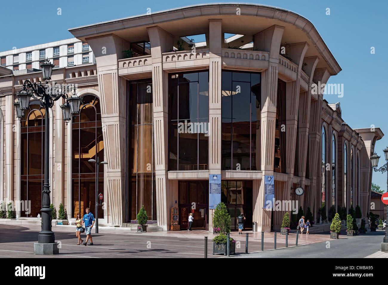 Auditorium-Congress Palace Principe Felipe, Oviedo city, Asturias, Spain, Europe. - Stock Image