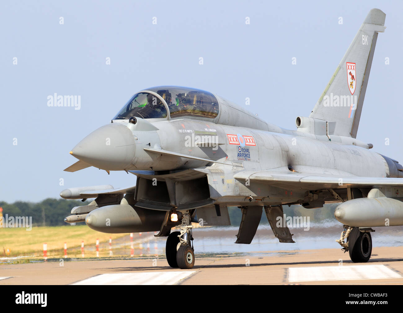 Eurofighter Typhoon FGR4 29 (R) Sqn at RAF Coningsby - Stock Image