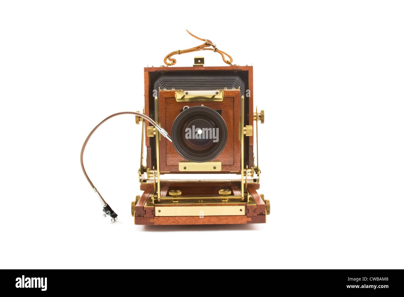 Large format field camera isolated on white background. - Stock Image