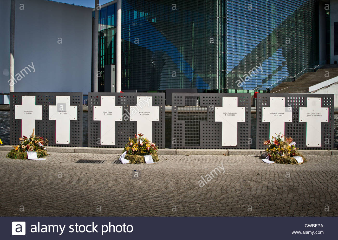Memorial to the Victims of the Wall in Berlin - Stock Image