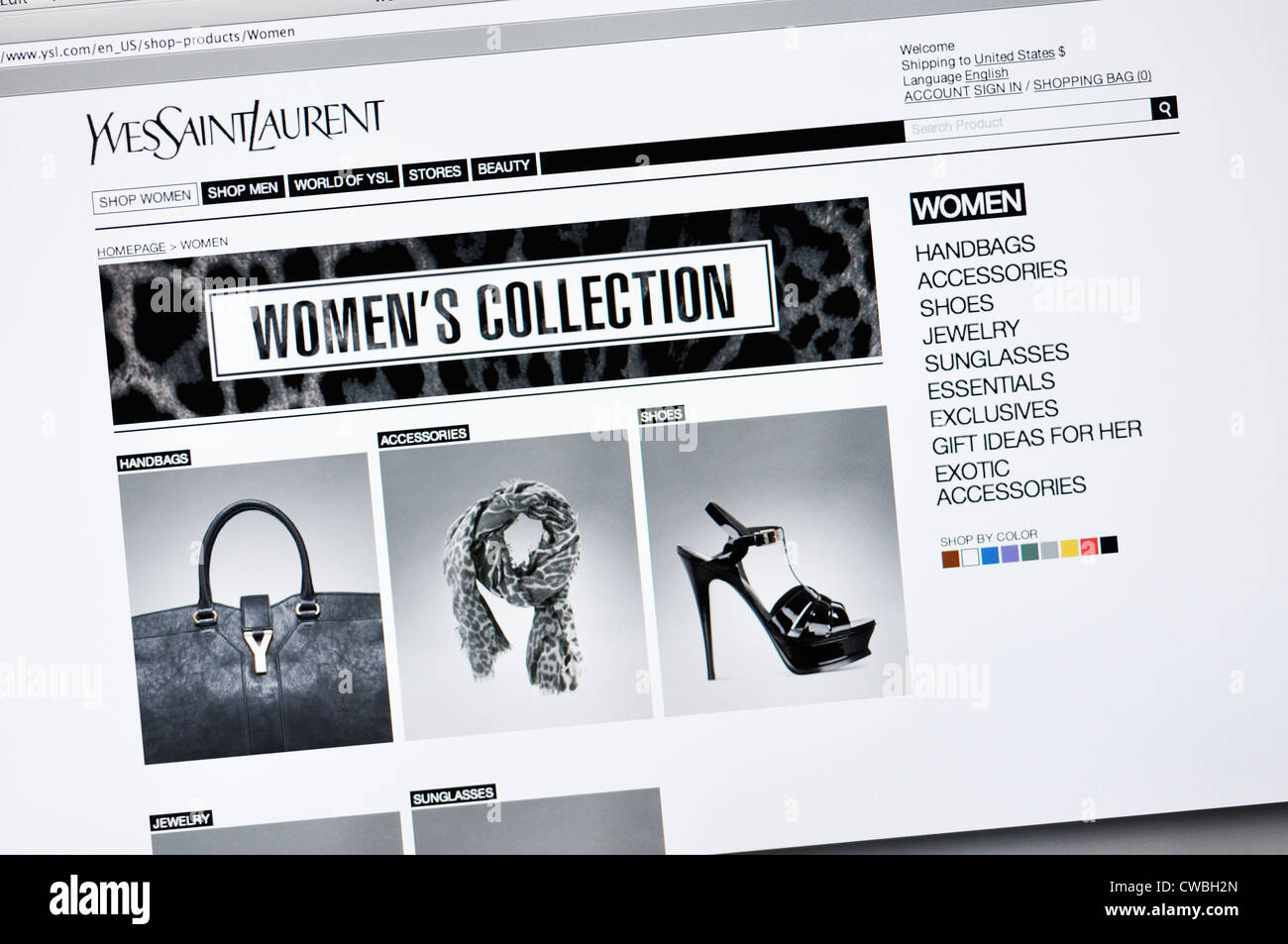 a039ca30e0f Yves Saint Laurent designer fashion website Stock Photo: 50042013 ...