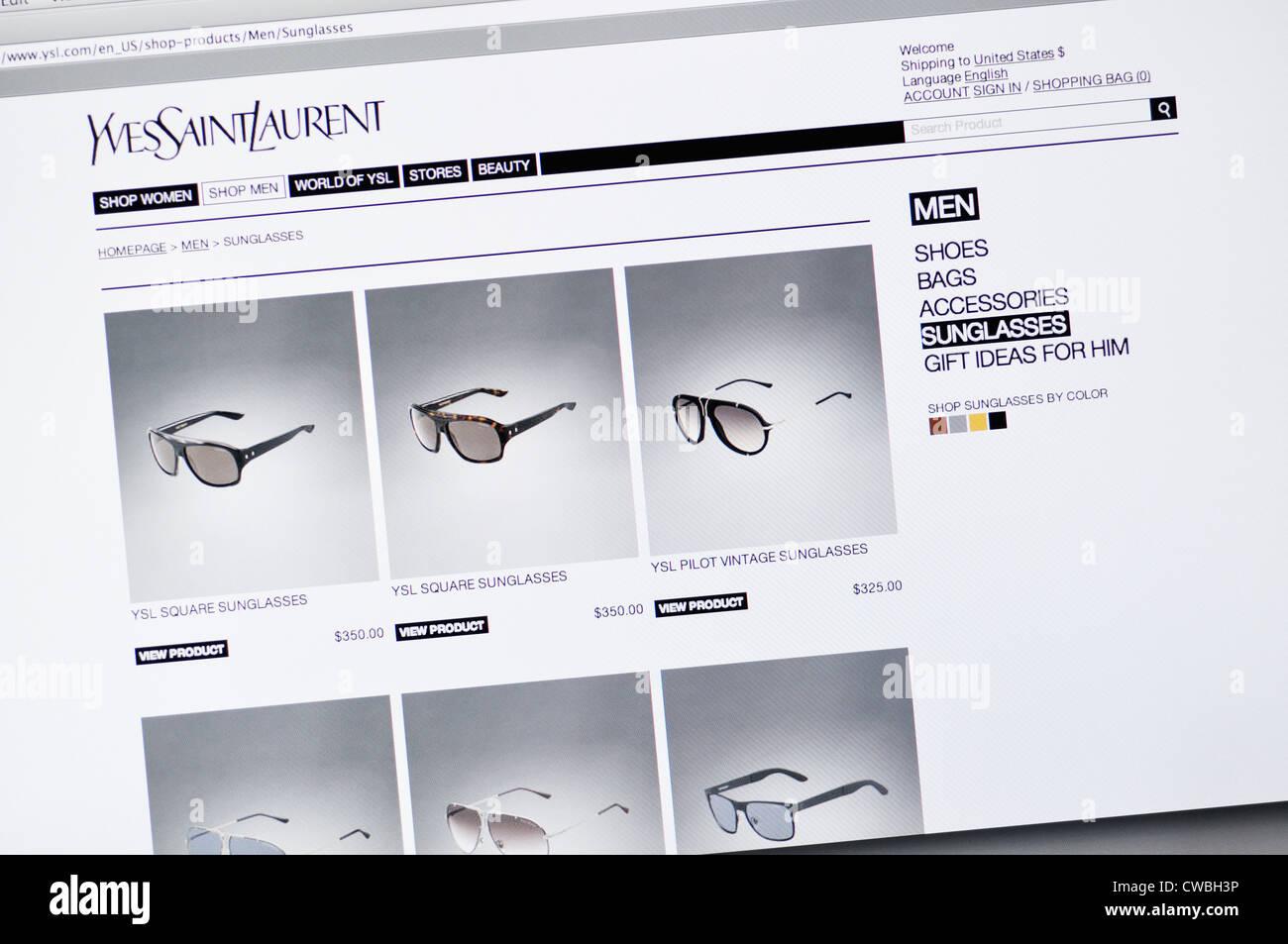 b64e7bf92e4 Yves Saint Laurent designer sunglasses website Stock Photo: 50042042 ...