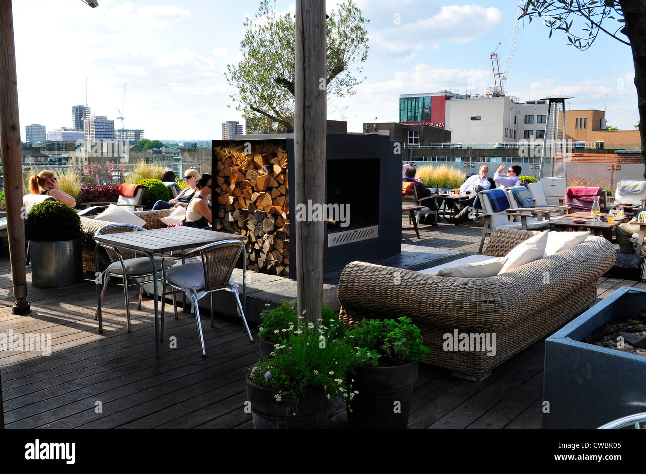 Boundary Rooftop Bar, Shoreditch, London - Stock Image