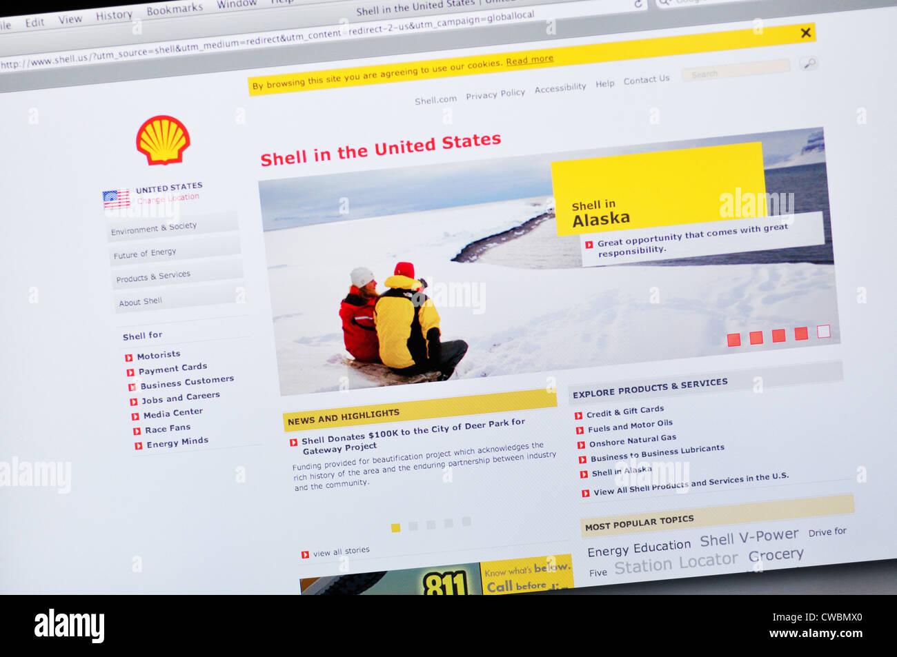 Shell oil website stock photo 50045016 alamy shell oil website colourmoves