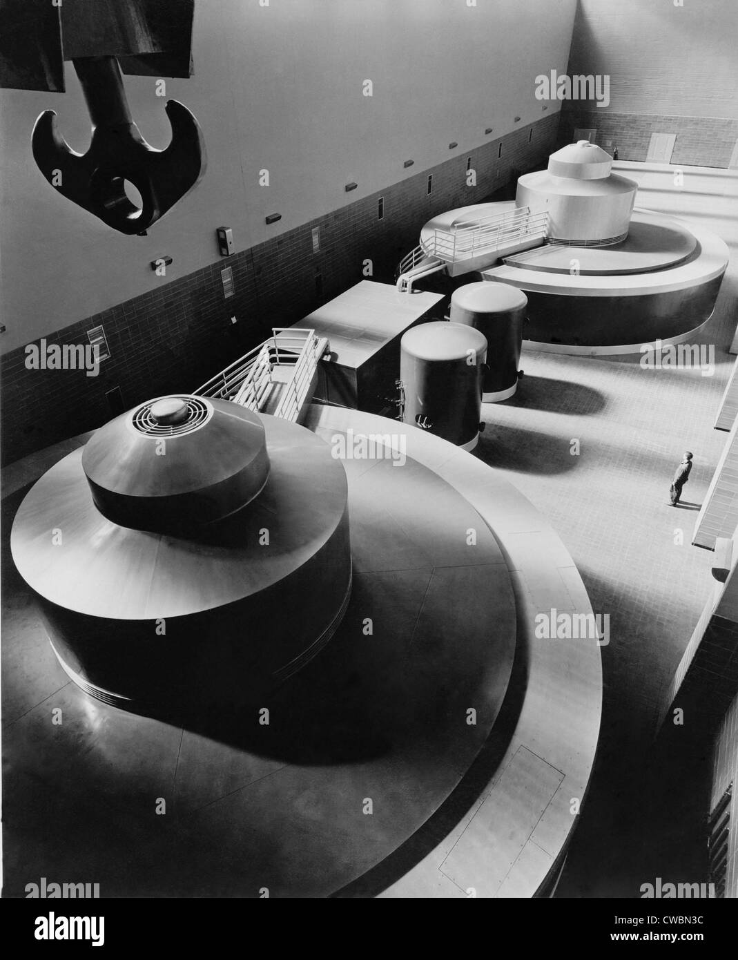 Pickwick Dam's first turbine generators were the largest in the country when installed in the late 1930s. Pickwick - Stock Image