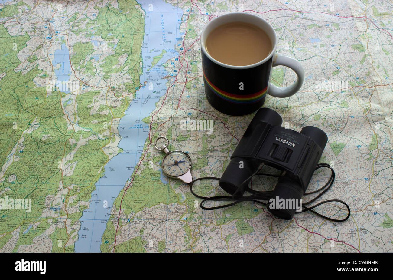 Armchair travel - Stock Image