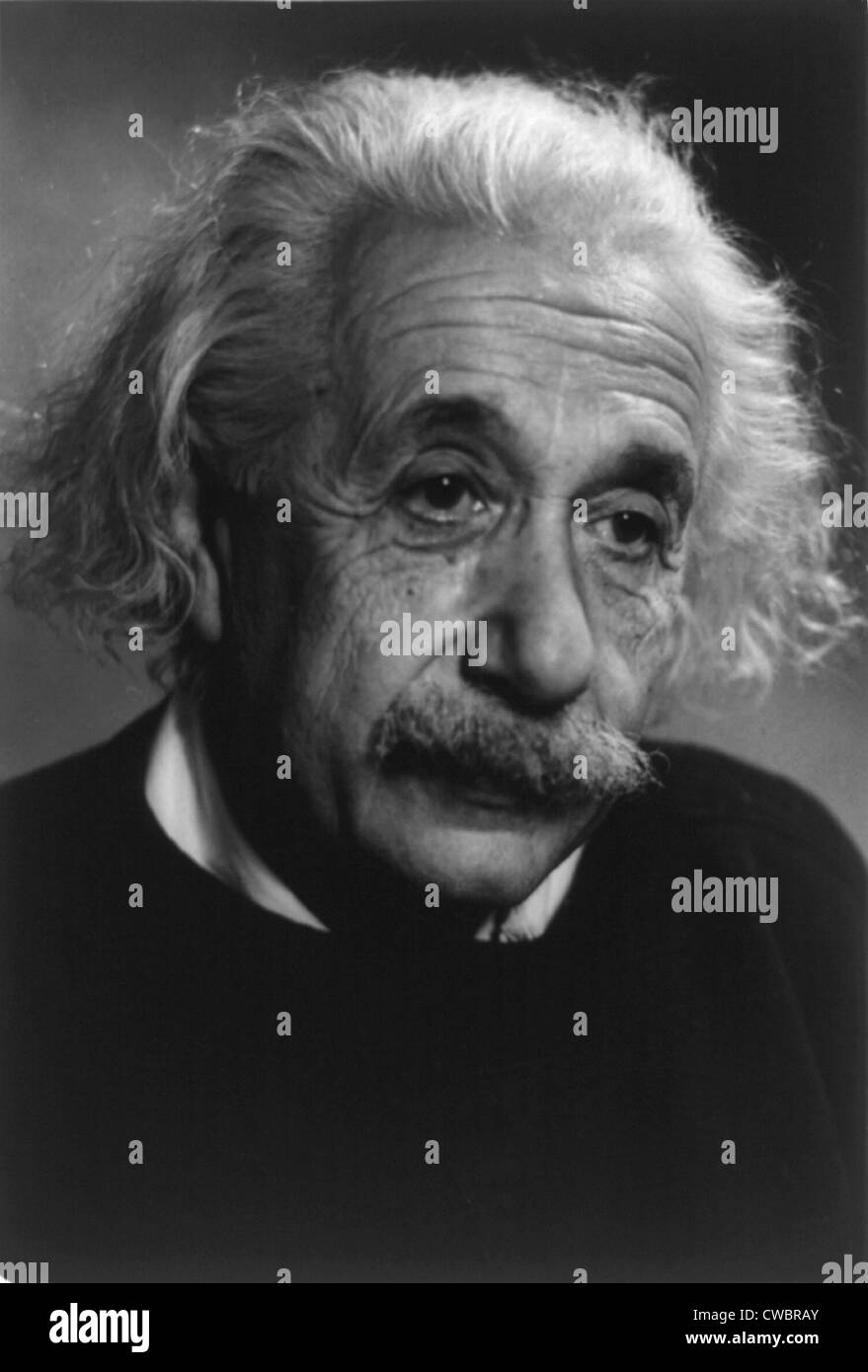 Albert Einstein (1879-1955), German-American theoretical physicist. Ca. 1940. Stock Photo