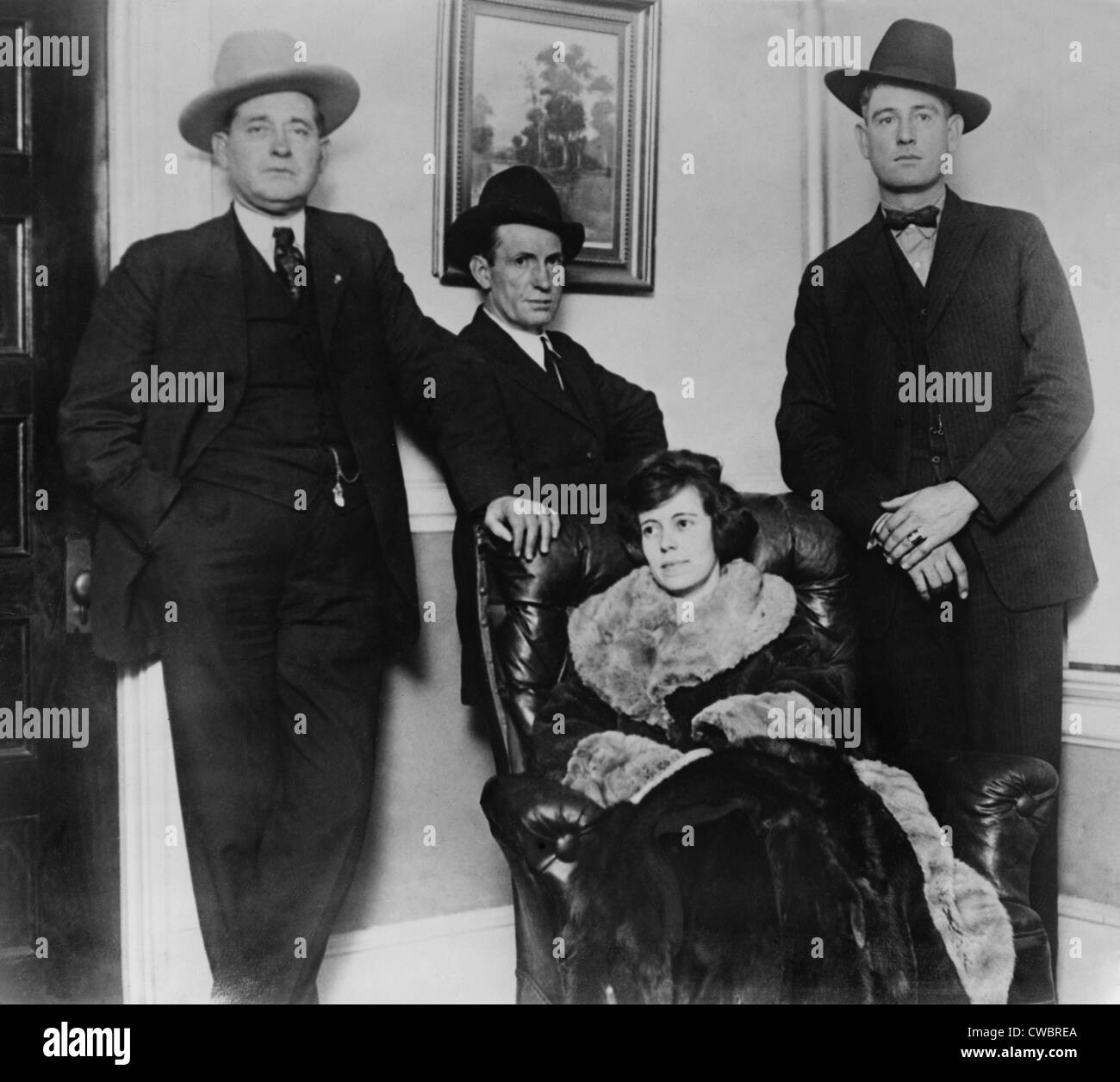 Clara Smith Hamon, secretary and lover to politically connected Texas oilman Jake L. Hamon, under arrest for his - Stock Image