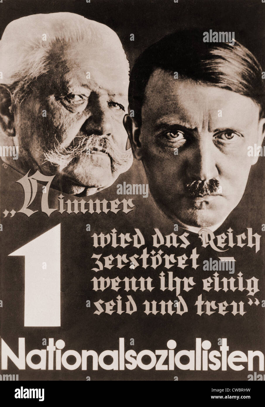 nazi poster with images of adolf hitler and paul von hindenburg stock photo 50047141 alamy. Black Bedroom Furniture Sets. Home Design Ideas