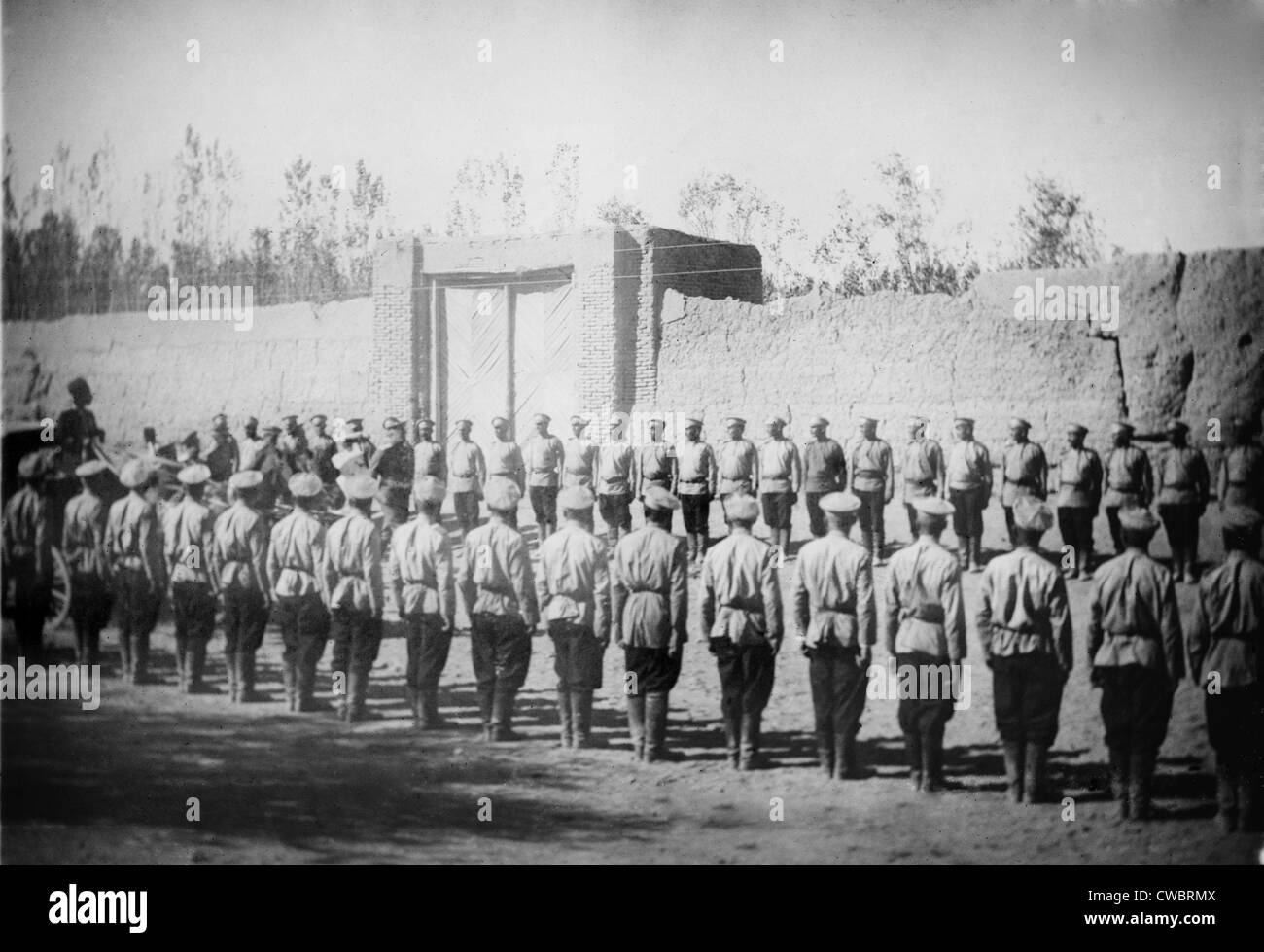 Russian troops invaded Iran in 1911, to counter the new constitutional government's steps toward national sovereignty - Stock Image