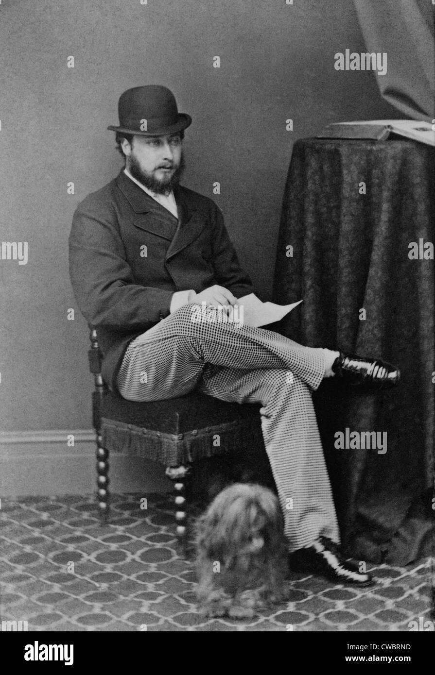 Edward, the Prince of Wales, the future Edward VII, King of Great Britain, ca. 1867. - Stock Image
