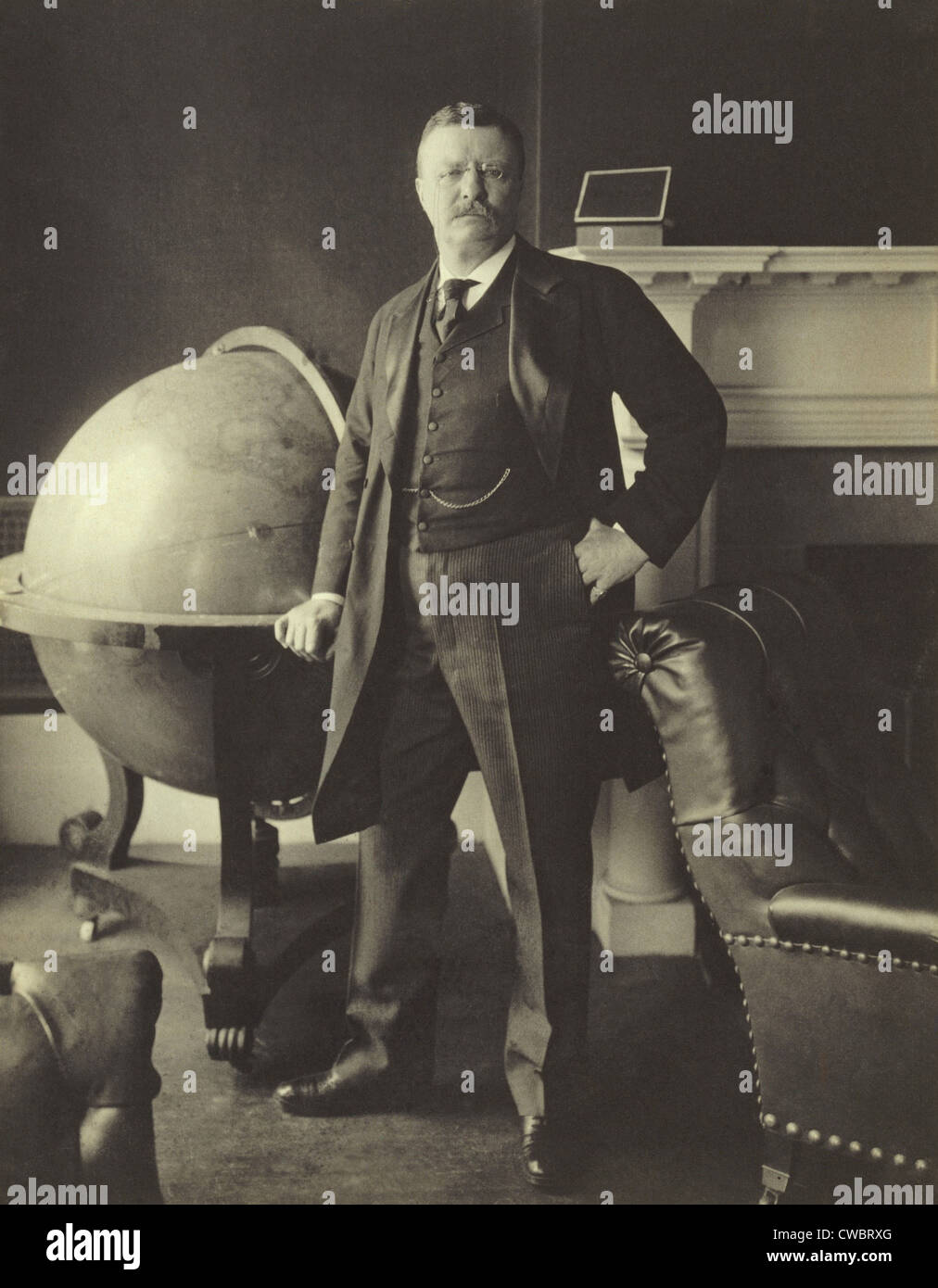 President Theodore Roosevelt (1858-1919), in 1903. The United States emerged as a recognized World Power during - Stock Image