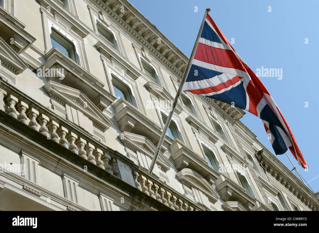 Cavalry and Guards Club at 127 Piccadilly, London, England - Stock Image