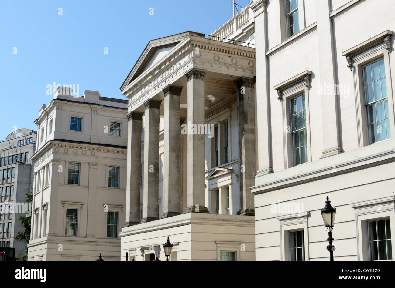 The Lanesborough Hotel former Lanesborough House part of St George's Hospital, Hyde Park Corner, London, UK - Stock Image