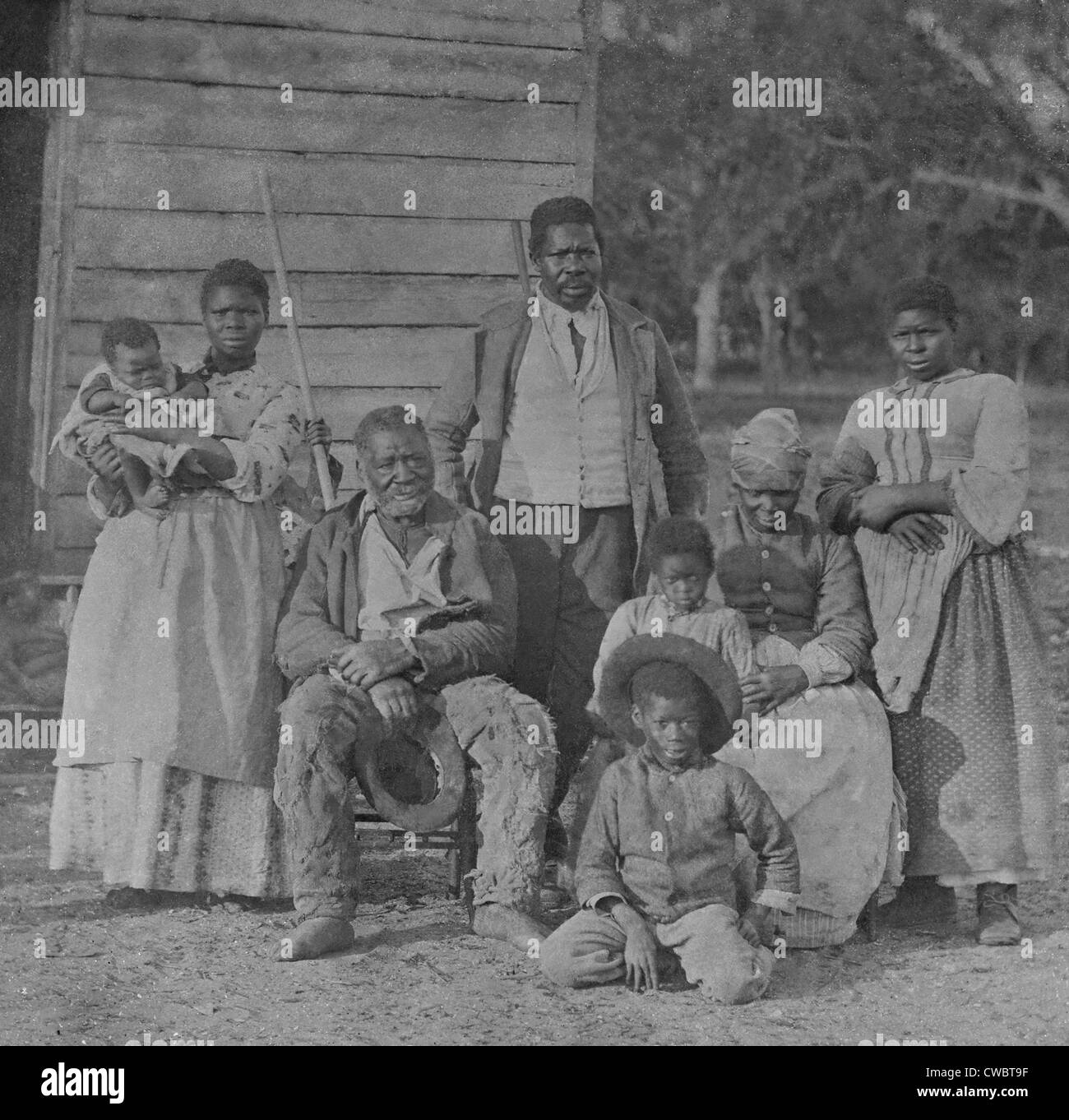 African American slave family representing five generations all born on the plantation of J. J. Smith, Beaufort, - Stock Image