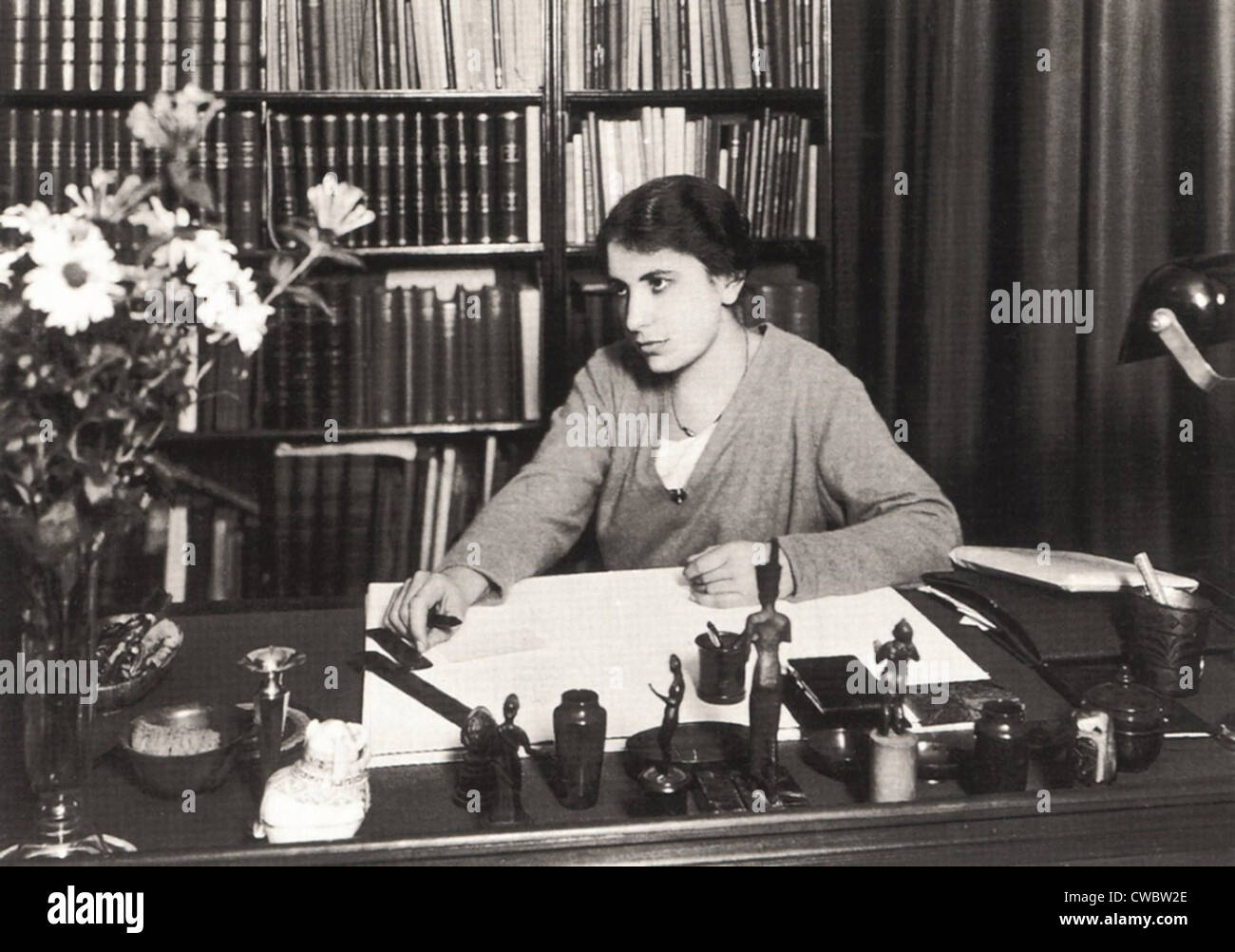 Anna Freud (1895-1982), youngest daughter of Sigmund Freud and founder of child psychoanalysis. Ca. 1920s. - Stock Image