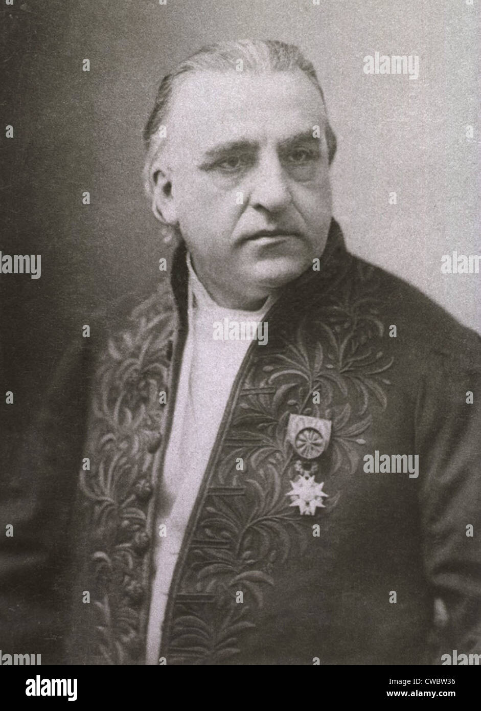 Jean Martin Charcot (1825-1893), founder of modern neurology, so influenced Sigmund Freud that he named his second - Stock Image