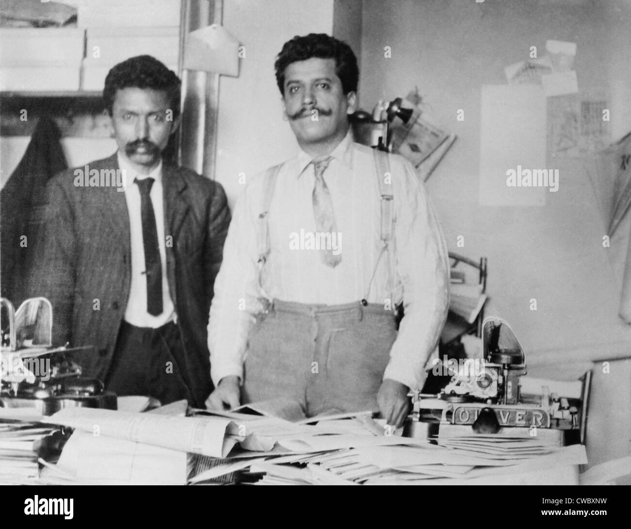 Librado Rivera (1864-1932) and Enrique Flores Magon (1877-1954), Mexican anarchists associated with Emiliano Zapata, - Stock Image