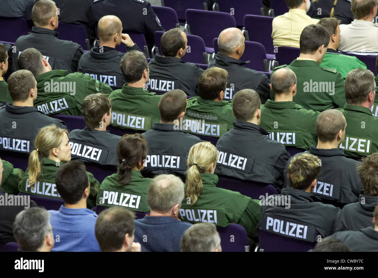 Kiel, Assembly of GdP members in the Baltic Hall - Stock Image