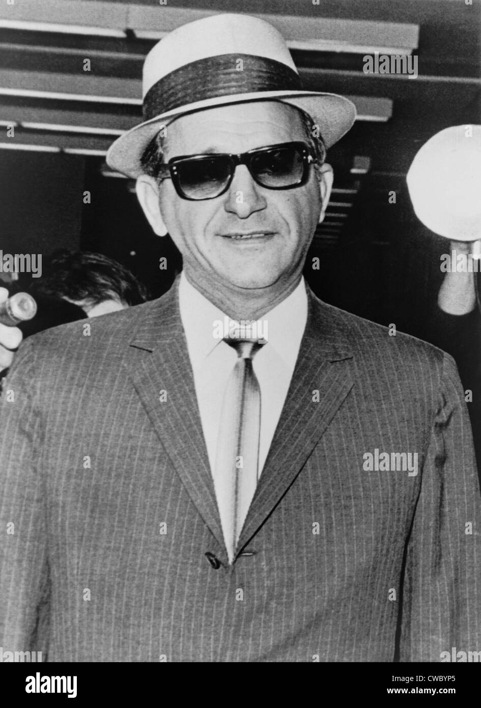 Sammy Giancana (1908-1975), American mobster and boss of the 'Chicago Outfit', arriving at the U.S. District - Stock Image