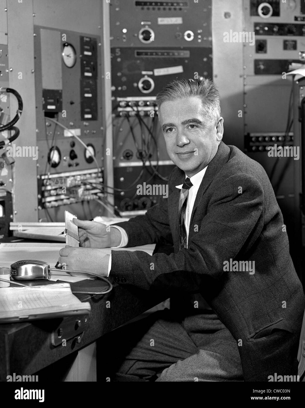 Emilio Segre (1905-1989), Italian-born American physicist won the 1959 Nobel Prize for Physics for the discovery - Stock Image